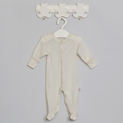 Merino wool playsuit with silk