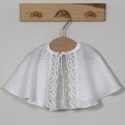 Linen christening veil